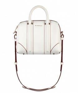 Givenchy White Calfskin with Carmine Edges Lucrezia Mini Bag - Spring Summer 2014 Collection