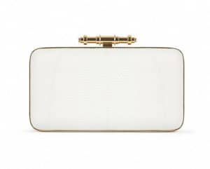 Givenchy White Lizard Obsedia Minaudiere Bag - Spring Summer 2014 Collection