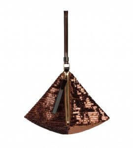 Givenchy Windsor Brown Sequined Pyramidal Clutch Bag - Spring Summer 2014 Collection