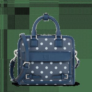 Loewe Ocean/Navy Blue Cruz with Dots Small Bag