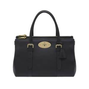 Mulberry Black Silky Classic Calf Bayswater Double Zip Tote Bag