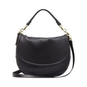 Mulberry Black Spongy Pebbled Effie Satchel Bag