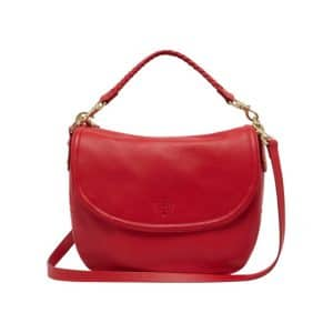 Mulberry Bright Red Spongy Pebbled Effie Satchel Bag
