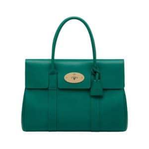 Mulberry Emerald Micrograin Calf Bayswater Bag