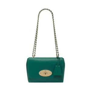 Mulberry Emerald Micrograin Calf Lily Bag