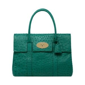 Mulberry Emerald Ostrich Bayswater Bag
