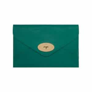 Mulberry Emerald Silky Classic Calf Willow Clutch Bag