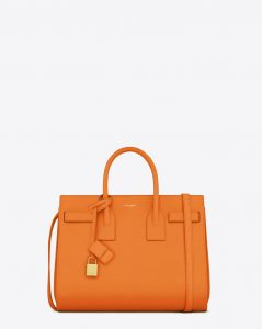 Saint Laurent Orange Classic Sac De Jour Small Bag