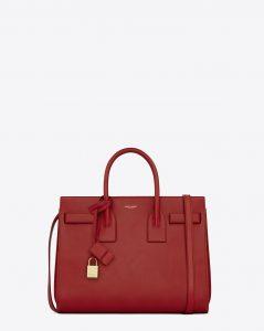 Saint Laurent Red Classic Sac De Jour Small Bag