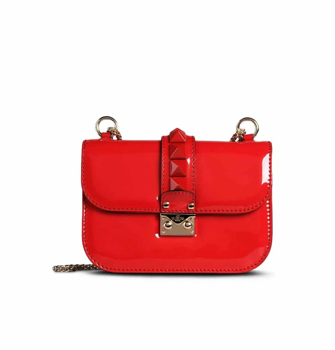 Valentino Red Patent Rockstud Flap Small Bag 2 045 00 Usd