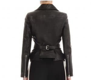 Alexander Mcqueen Leather Jacket with Hip Zippers