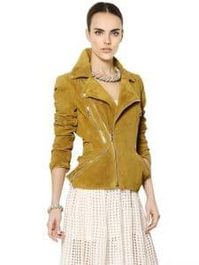Alexander Mcqueen Suede Leather Jacket - Luisaviaroma
