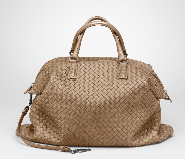 Bottega Veneta Bronze Intrecciato Nappa Convertible Bag.  4 a3874f52ddb30