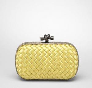 Bottega Veneta Duchesse Intreccio Impero Ayers Knot Clutch Bag