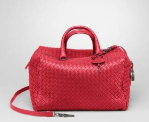 Bottega Veneta Fraise Intrecciato Nappa Top Handle Bag