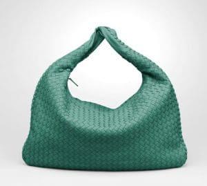 Bottega Veneta Menthe Intrecciato Nappa Veneta Large Bag