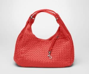 Bottega Veneta New Red Intrecciato Nappa Campana Small Bag