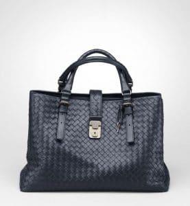 Bottega Veneta Prusse Intrecciato Roma Bag