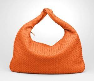 Bottega Veneta Tangerine Intrecciato Nappa Veneta Large Bag