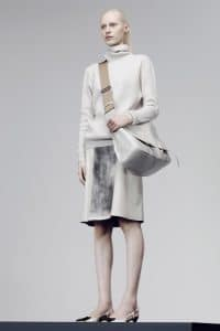 Bottega Veneta White Satchel Large Bag - Pre-Fall 2014