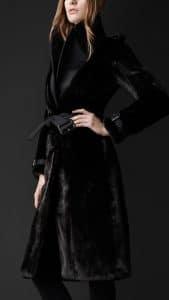 Burberry Prorsum Black Mink Coat - Fall Winter 2013