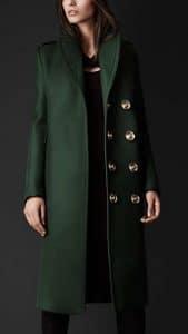 Burberry Prorsum Bonded Wool Green Coat - Fall Winter 2013