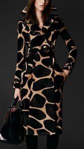 Burberry Prorsum Leopard Calfskin Trench Coat - Fall Winter 2013