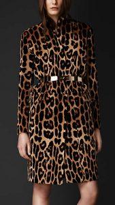 Burberry Prorsum Mink Leopard Print Coat - Fall Winter 2013
