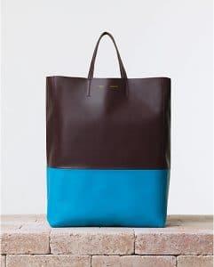 Celine Azur Blue Bicolor Cabas Bag - Summer 2014