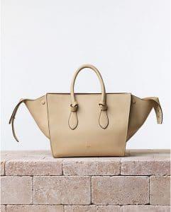 Celine Beige Chamois Tie Tote Bag - Summer 2014