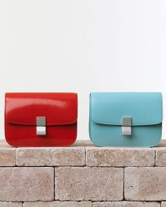 Celine Box Flap Bags in Red and Blue - Summer 2014