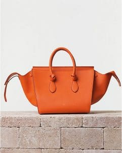 Celine Bright Orange Tie Tote Bag - Summer 2014