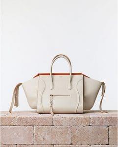 Celine Chalk White Phantom Luggage bag with Orange Interior - Summer 2014