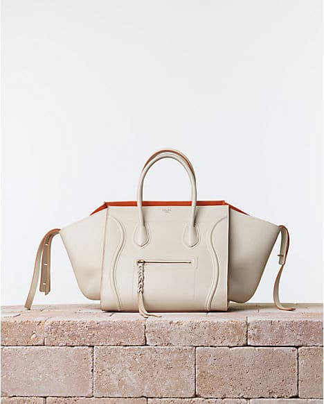 1baa47dcd8 Celine Chalk White Phantom Luggage bag with Orange Interior - Summer 2014