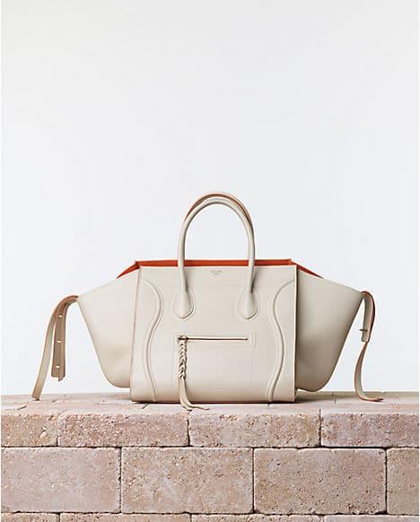 7788c364b9 Celine Chalk White Phantom Luggage bag with Orange Interior - Summer 2014