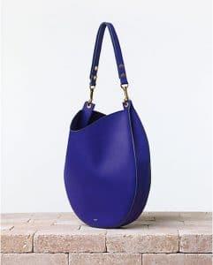Celine Cobalt Blue Trotteur Hobo Bag - Summer 2014