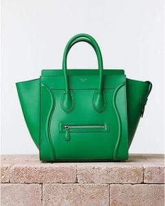 Celine Grass Green Palmelato Mini Luggage Bag - Summer 2014