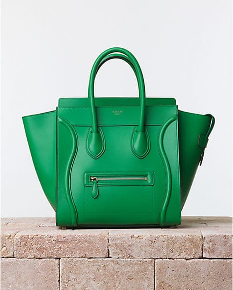 Celine Grass Green Palmelato Mini Luggage Bag - Summer 2014. Price   3 cebb0f8f03452