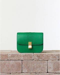 Celine Grass Green Python Box Flap Bag - Summer 2014