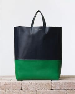 Celine Green Grass Bicolor Cabas bag - Summer 2014