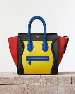 Celine Multicolor Mini Luggage Bag - Summer 2014