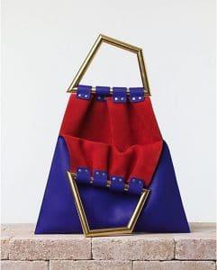 Celine Navy Triangle Open Sac Bag - Summer 2014