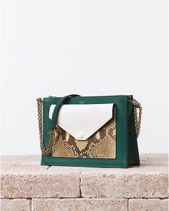 Celine Pocket Handbag with Python - Summer 2014