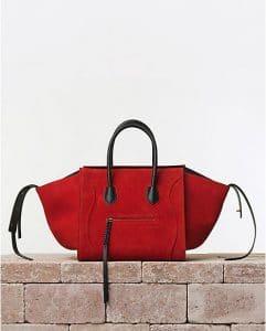 Celine Red Vermillion Suede Phantom Luggage Bag - Summer 2014