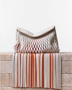Celine Tassel Orange Laser Cut Clutch Bag - Summer 2014