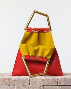 Celine Vermillion Triangle Open Sac Bag - Summer 2014