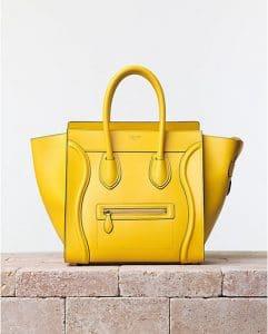 Celine Yellow Sunflower Palmelato Mini Luggage Bag - Summer 2014