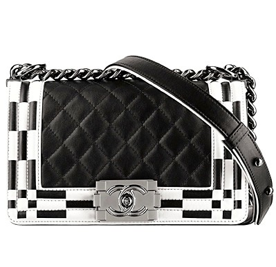 Chanel Black:White Boy Chanel Quilted Flap Medium Bag - Spring 2014 Act I