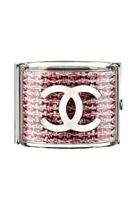 Chanel Clear White/Black/Red Bangle - Spring 2014 Act I
