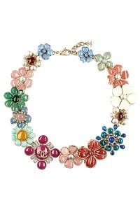 Chanel Floral Necklace - Spring 2014 Act I